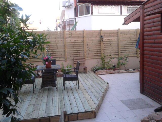 דק למרפסת וריהוט הגינה